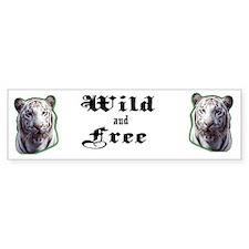 White Tiger Bumper Bumper Sticker