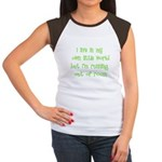 I Live In My Own Little World Women's Cap Sleeve T