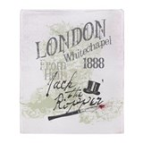 Jack the Ripper London 1888 Throw Blanket