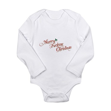 Merry Fucking Christmas Long Sleeve Infant Bodysui