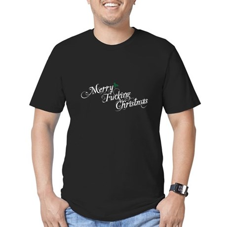 Merry Fucking Christmas Mens Fitted Dark T-Shirt