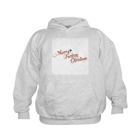 Merry Fucking Christmas Kids Hoodie