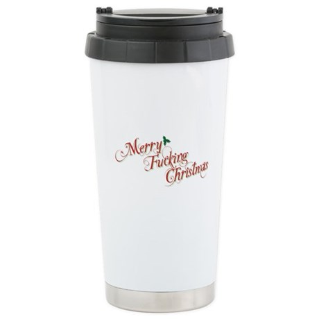 Merry Fucking Christmas Ceramic Travel Mug