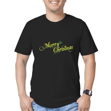 Merry Christmas Mens Fitted Dark T-Shirt