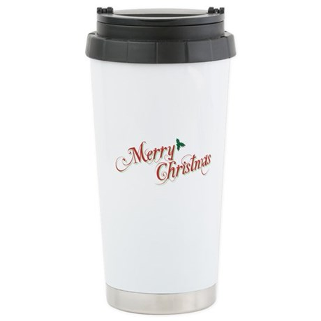 Merry Christmas Ceramic Travel Mug