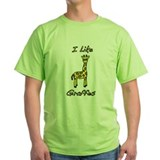 Green I Like Giraffes T-Shirt