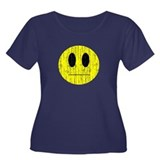 Vintage emotionless Smiley Women's Plus Size Scoop