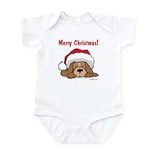 Puppy w/ Santa Hat Infant Bodysuit