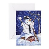 Unique Holiday snowman Greeting Cards (Pk of 20)