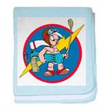 487th Fighter Squadron P-51 baby blanket
