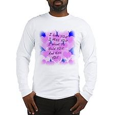 I LOVE U I MISS U Long Sleeve T-Shirt