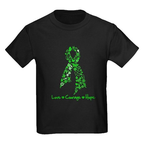 Organ Donor LoveCourageHope Kids Dark T-Shirt