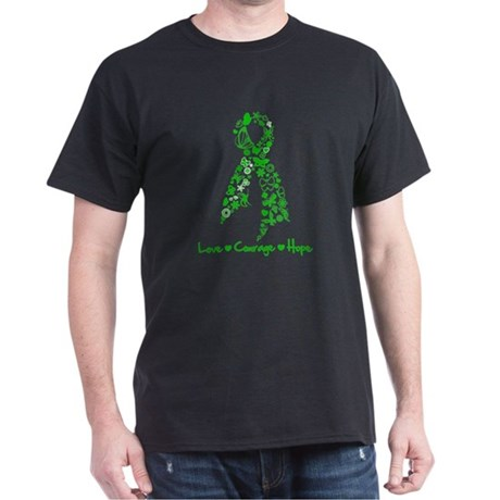 Organ Donor LoveCourageHope Dark T-Shirt