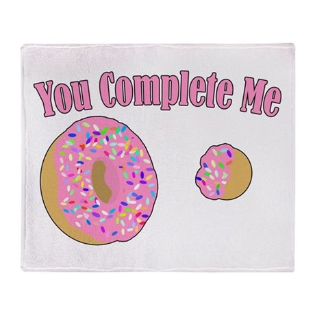 You Complete Me Throw Blanket
