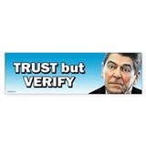 Reagan - Trust But Verify Car Sticker