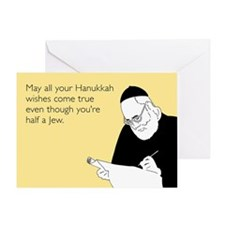 Half Jew Greeting Card