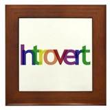 Introvert Colors Framed Tile