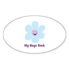 My Boys Rock Oval Decal