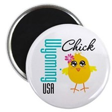 "Wyoming Chick 2.25"" Magnet (10 pack)"