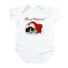 Christmas Puppy & Kitten Infant Bodysuit