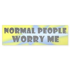 """Normal People"" Bumper Bumper Sticker"