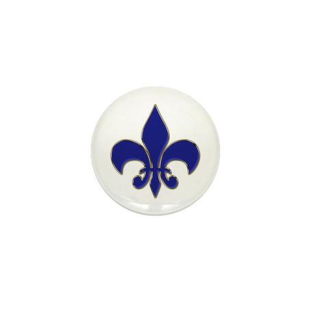 Fleur-de-lis Mini Button