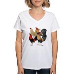 Four Gamecocks Women's V-Neck T-Shirt