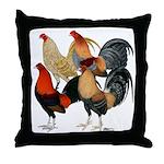 Four Gamecocks Throw Pillow