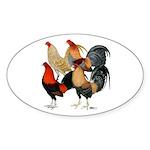 Four Gamecocks Sticker (Oval 50 pk)