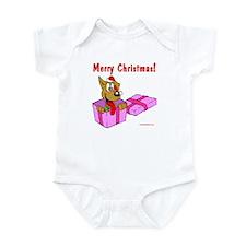 Christmas Dog in Box Infant Bodysuit
