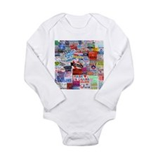 Obama Sign Collage Long Sleeve Infant Bodysuit