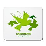 Green doves Mousepad