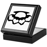Brass knuckles Keepsake Box