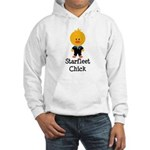 Starfleet Chick Blue Hooded Sweatshirt