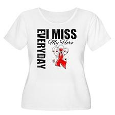 AIDS Everyday I Miss My Hero T-Shirt