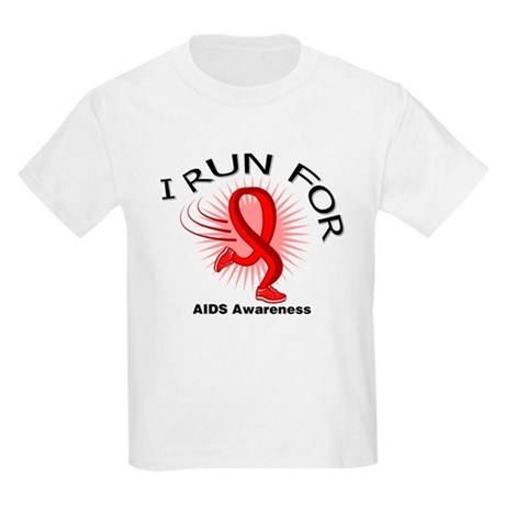 AIDS I Run For Awareness Kids Light T-Shirt