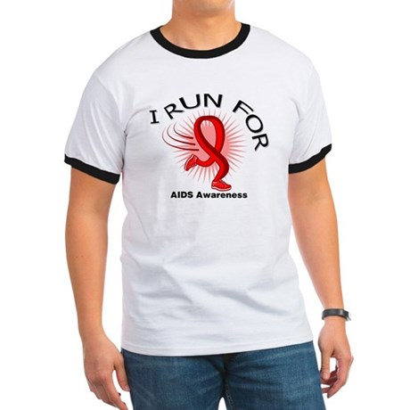 AIDS I Run For Awareness Ringer T