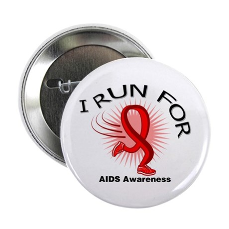 "AIDS I Run For Awareness 2.25"" Button (100 pack)"