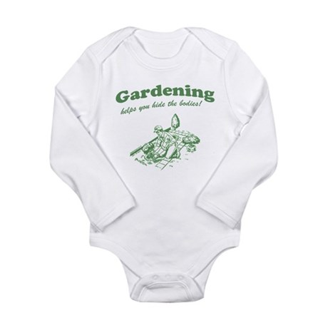 Gardening Helps Long Sleeve Infant Bodysuit