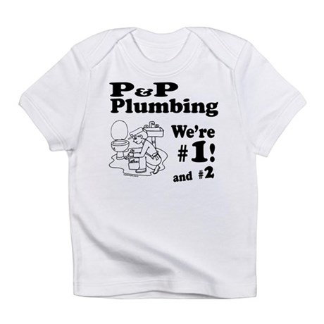 P P Plumbing Pink Infant T-Shirt