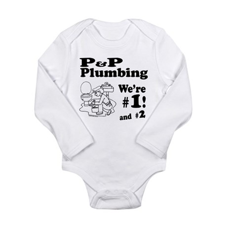 P P Plumbing Long Sleeve Infant Bodysuit