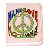 Love not War baby blanket