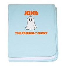 John the Friendly Ghost baby blanket