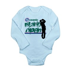 Oceanic Island Open Long Sleeve Infant Bodysuit
