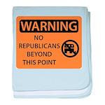 No Republicans baby blanket