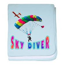Sky Diver baby blanket