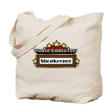 World's Greatest Shopkeeper Tote Bag