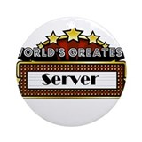 World's Greatest Server Ornament (Round)