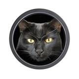 Beautiful Black Cat Wall Clock
