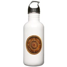Compass Rose in Brown Water Bottle
